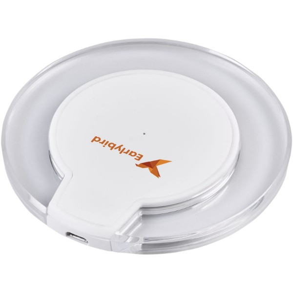 Meteor Qi® wireless charging pad - White