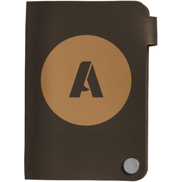 Valencia card holder with 10 slots - Brown