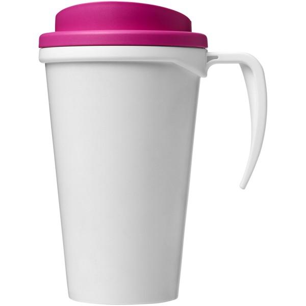 Brite-Americano® Vaso térmico grande de 350 ml - Blanco / Rosa