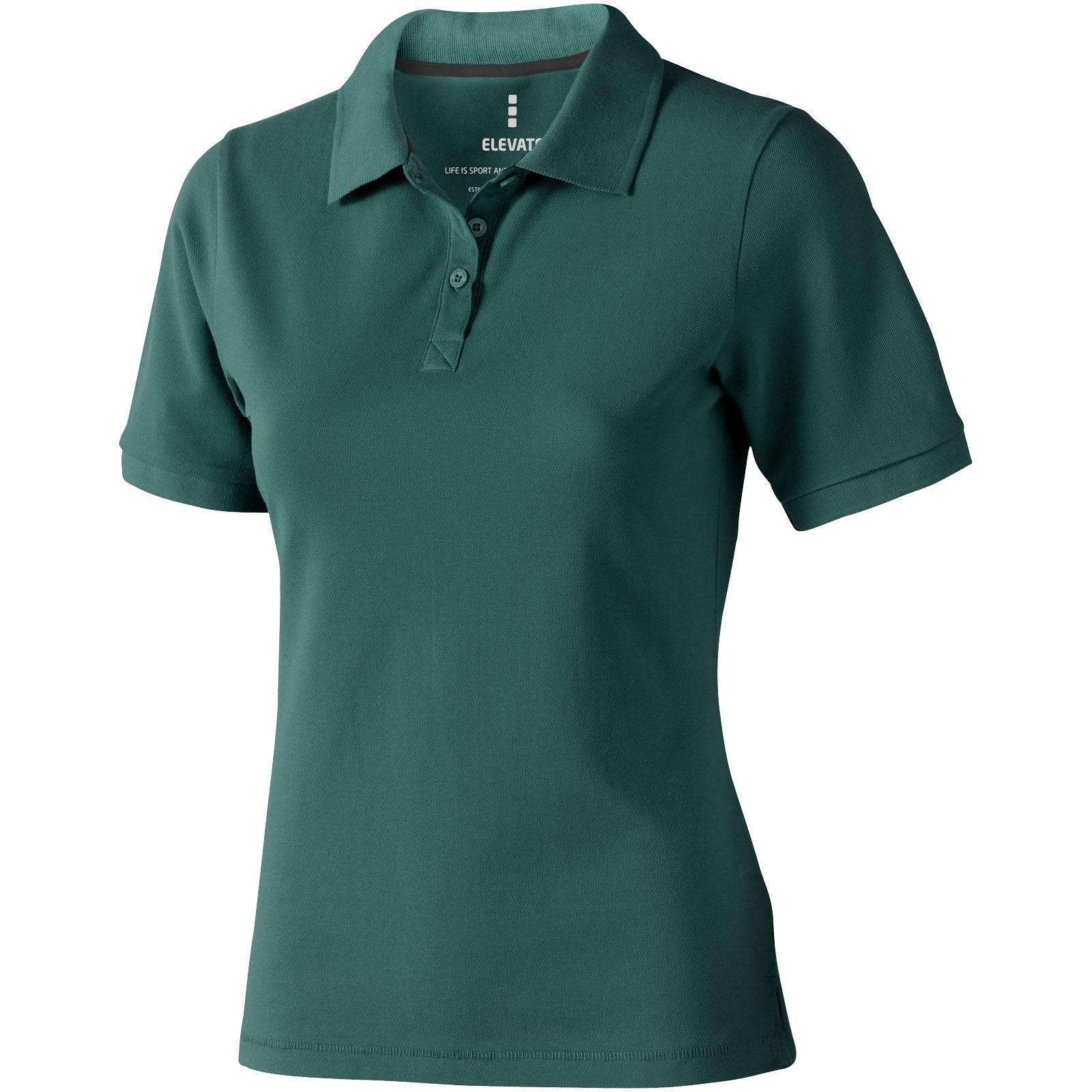 Calgary short sleeve women's polo - Forest green / XL