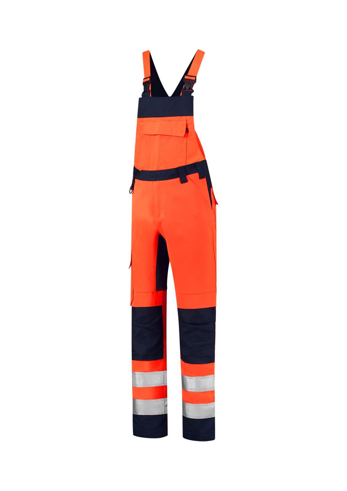Pracovní kalhoty s laclem unisex Tricorp Bib & Brace High Vis Bicolor - Fluorescenční Oranžová / 56