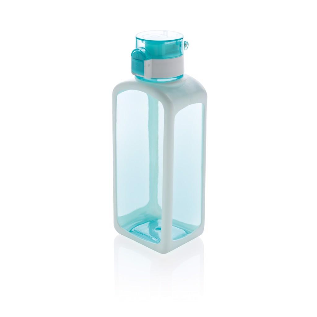 Squared zárható, szivárgásmentes tritán vizespalack - Türkiz