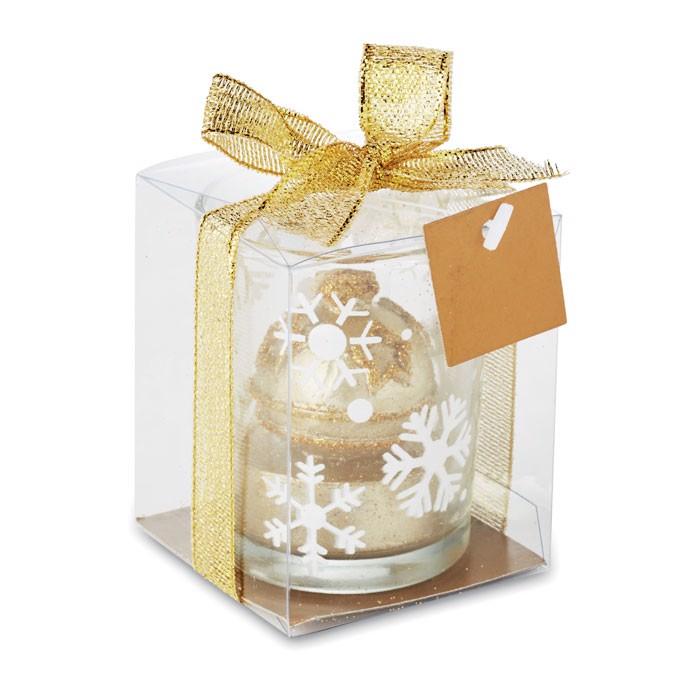 Szklany świecznik tea light Glitterie