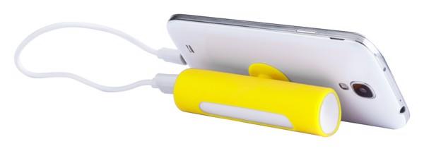 Usb Power Banka Khatim - Žlutá / Bílá