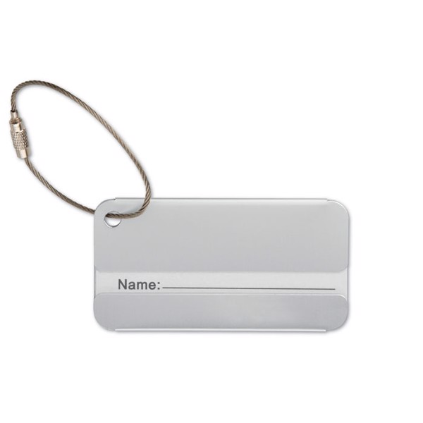 Aluminium luggage tag Taggy