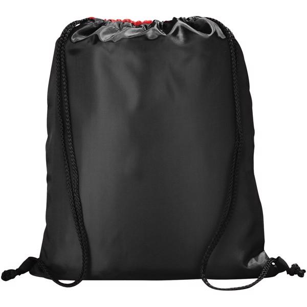 Stahovací batůžek na šňůrku Peek - Červená s efektem námrazy / Černá