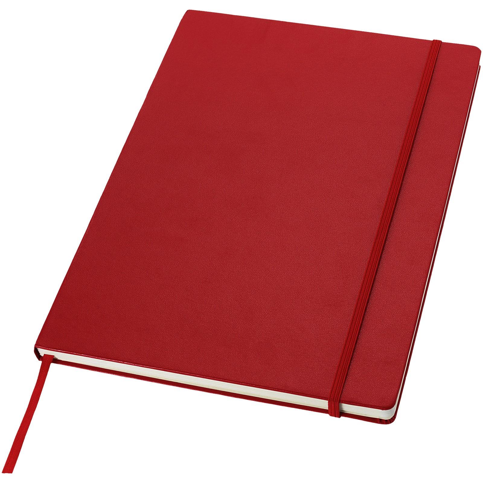 Poznámkový blok s pevnou obálkou A4 Executive - Červená s efektem námrazy