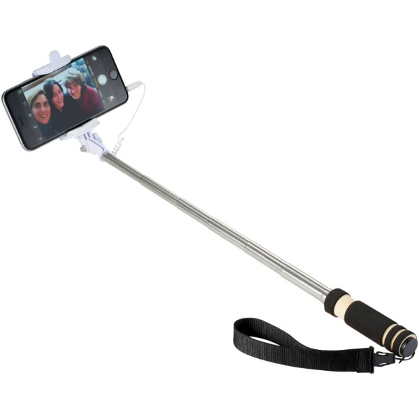 Snaps mini selfie stick with wrist strap - Solid black