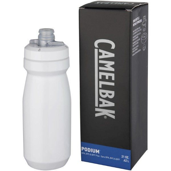 Podium 620 ml sport bottle - White