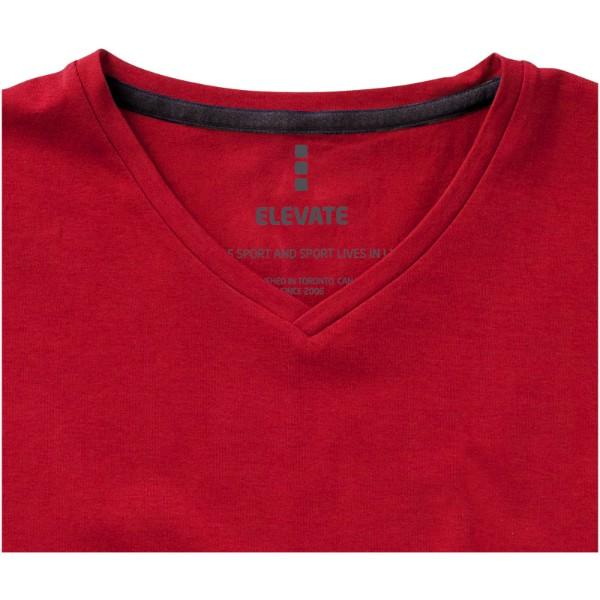Pánské triko Kawartha s krátkým rukávem, organická bavlna - Červená s efektem námrazy / S