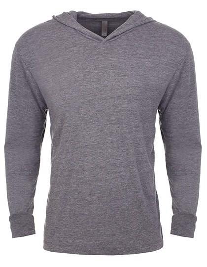 Unisex Tri-Blend Long Sleeve Hoody - Premium Heather  / S