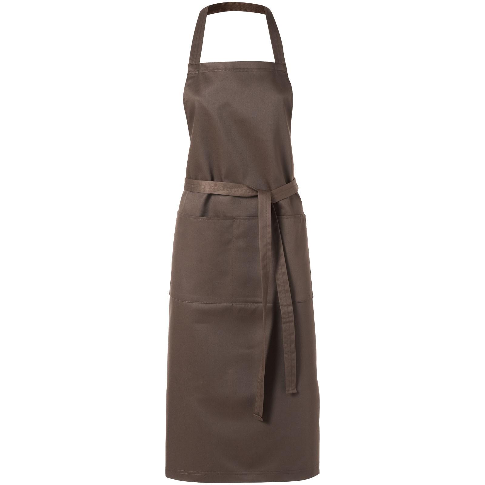 Viera Schürze mit 2 Taschen - Braun