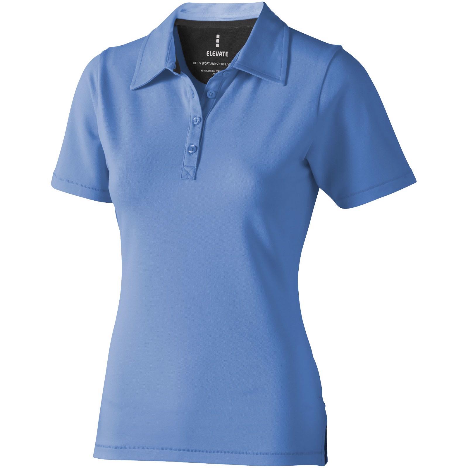 Markham short sleeve women's stretch polo - Light blue / XXL