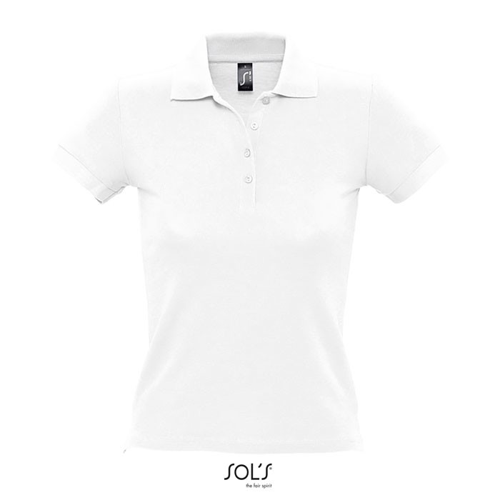 PEOPLE POLO MUJER 210g - Blanco / L
