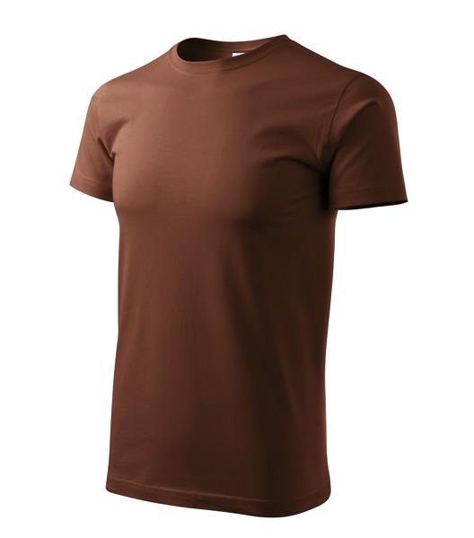 Tričko pánské Malfini Basic - Čokoládová / XS