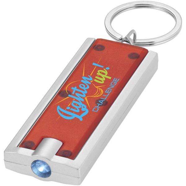 Castor LED keychain light - Red / Silver