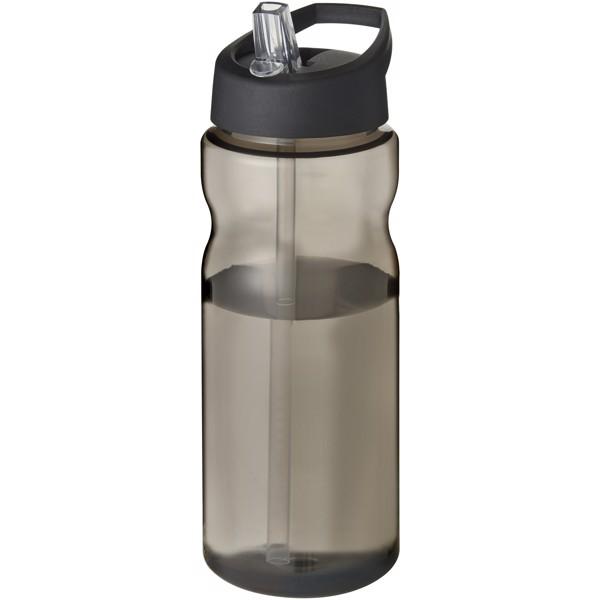 Sportovní láhev s víčkem s hubičkou H2O Eco 650 ml - Karmínová červená / Černá
