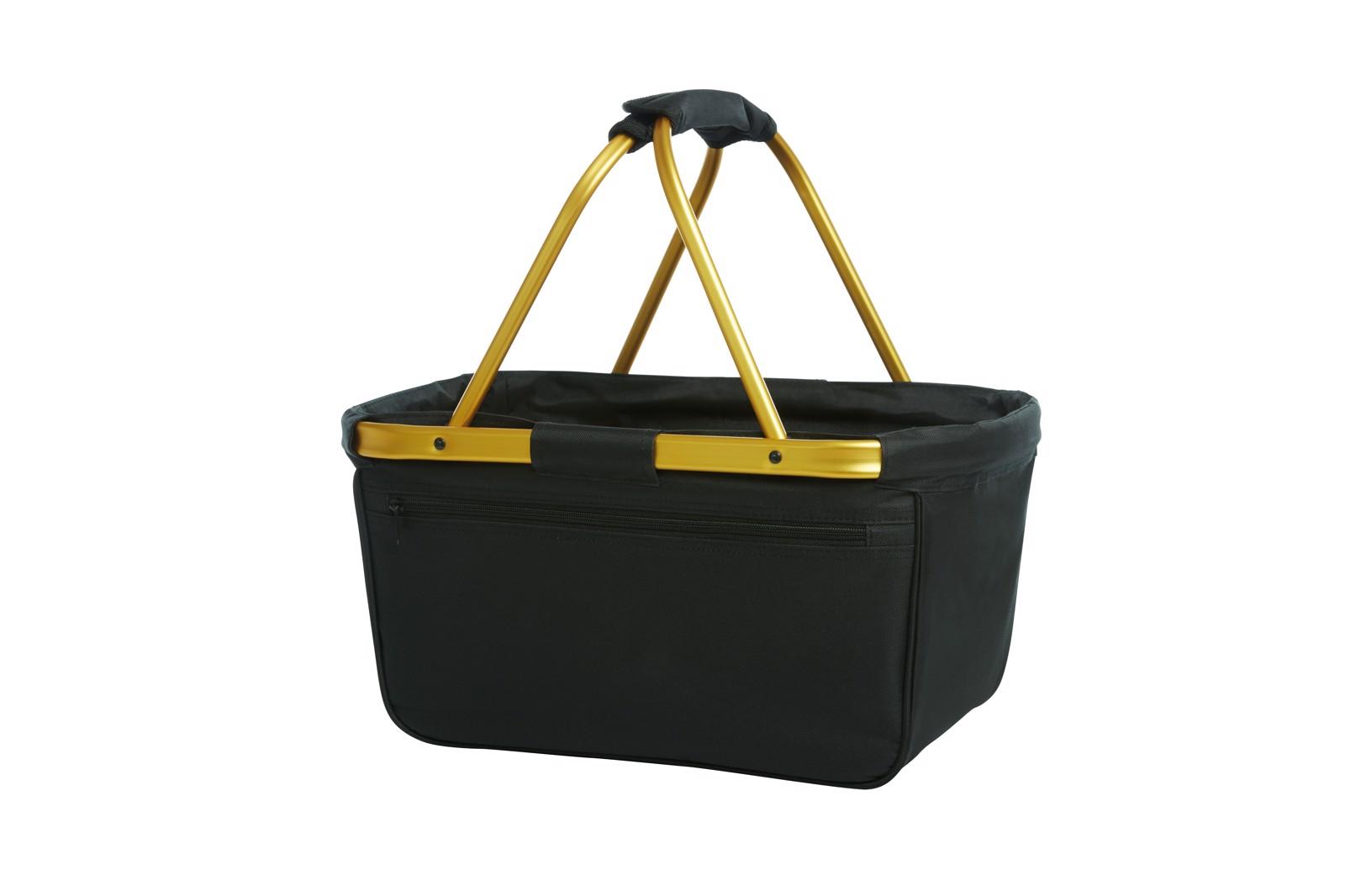 Shopper Black Basket - Zlato