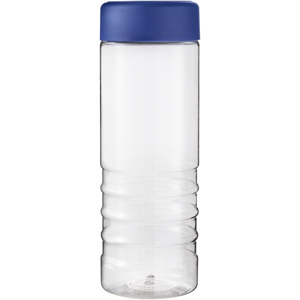 H2O Treble 750 ml screw cap water bottle - Transparent / Blue