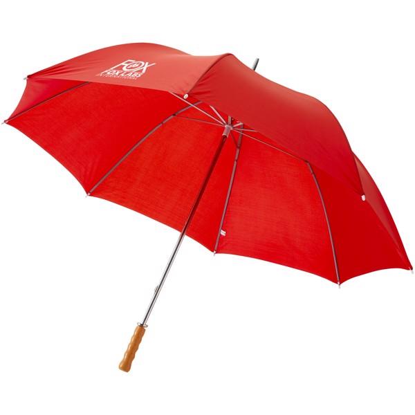 """30"""" golfový deštník Karl s dřevěnou rukojetí - Red"""
