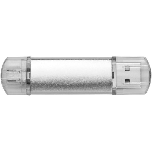 OTG USB Aluminium - Silver / 4GB