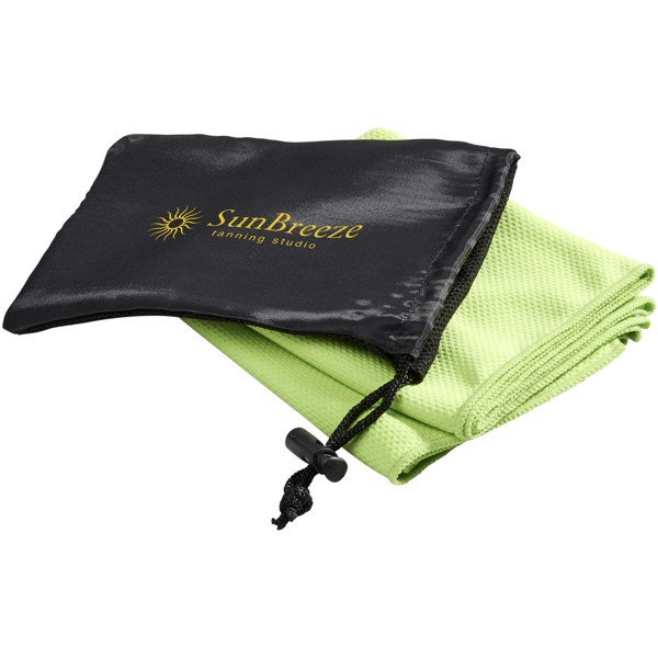 Peter cooling towel in mesh pouch - Lime