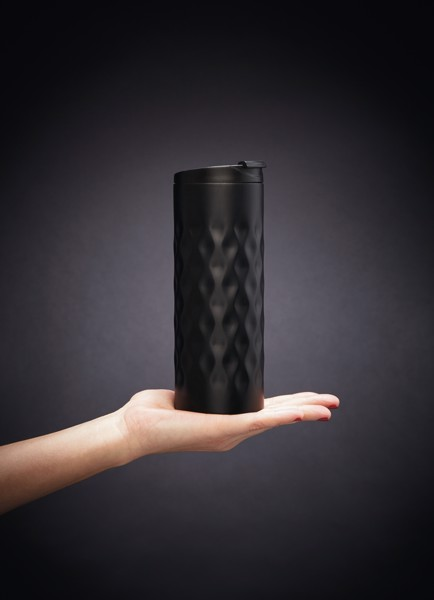 Geometrikus ivópohár - Fekete