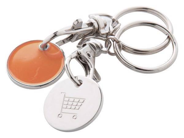 Přívěšek Na Klíče Se Žetonem Euromarket - Oranžová