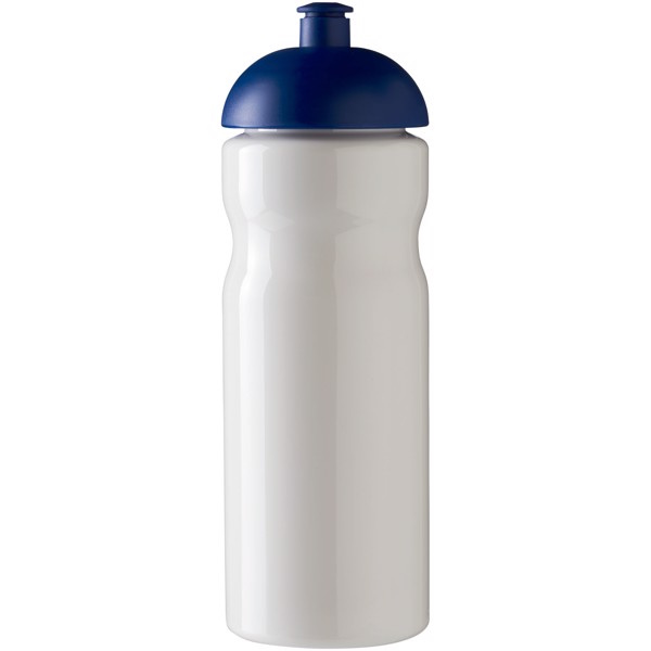 Sportovní láhev s kupolovitým víčkem H2O Base® 650 ml - Bílá / Modrá