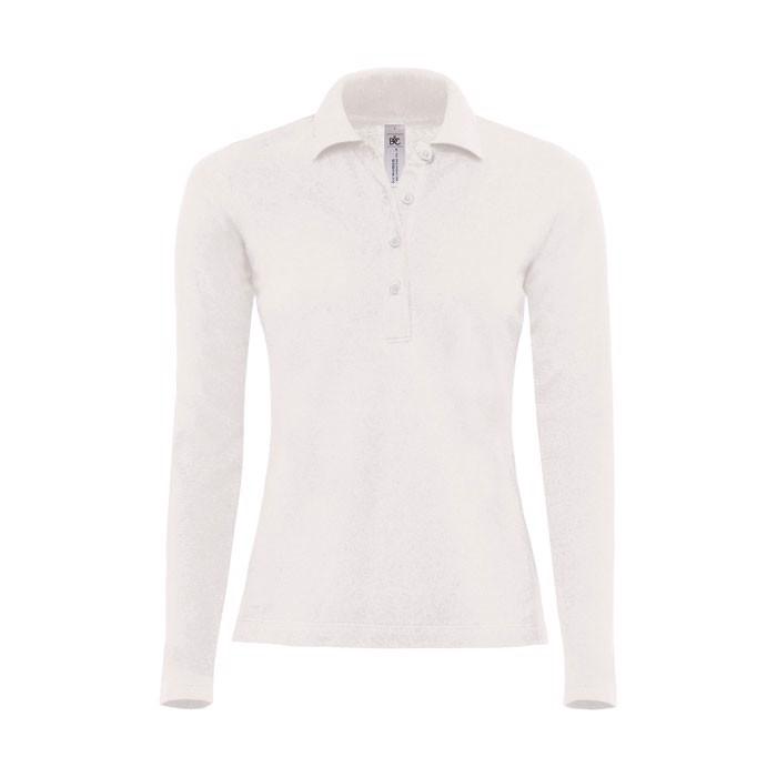 Damen Polo Shirt 180 g/m2 Ladies' Polo Ls - White / L