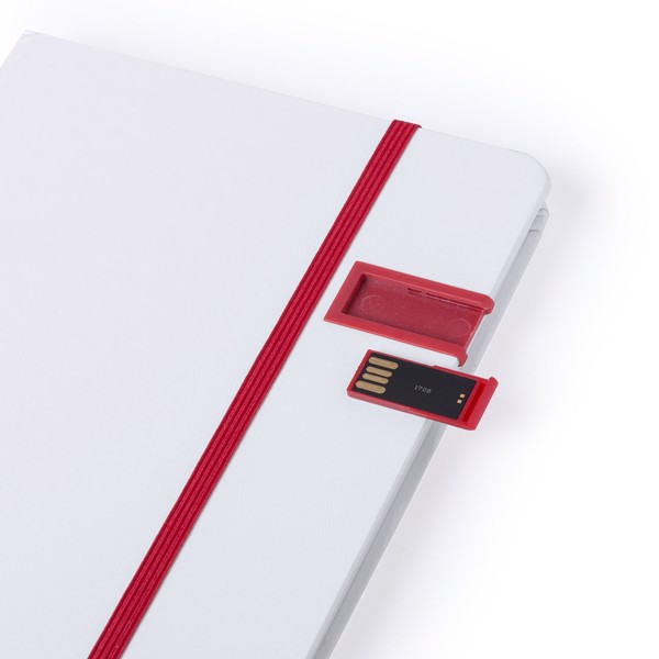 Bloc Notas USB Boltuk - Blanco