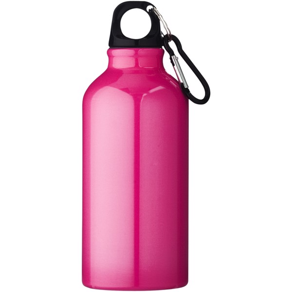 Oregon 400 ml sport bottle with carabiner - Neon pink