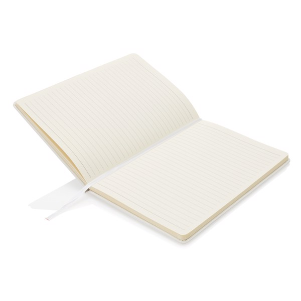 Poznámkový blok A5 spevnými deskami - Bílá