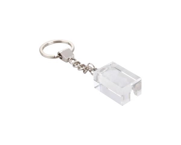 Schlüsselanhänger Glass - Transparent / Silber