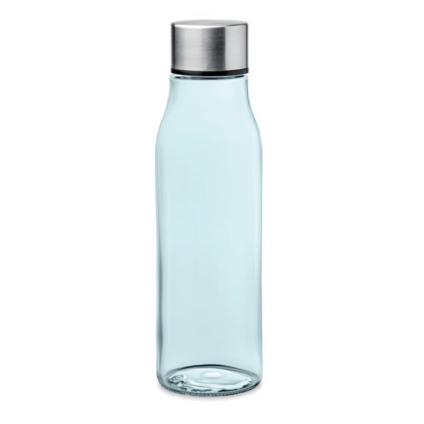 Glass drinking bottle 500 ml Venice - Transparent Blue