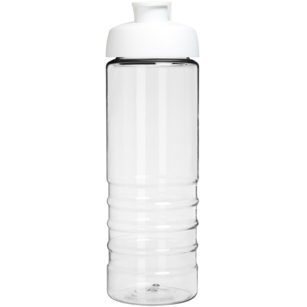 H2O Treble 750 ml flip lid sport bottle - Transparent / White