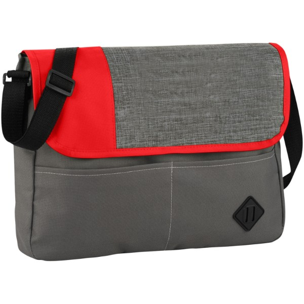 Offset messenger bag - Grey / Red