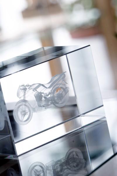 Steklena kocka Macon - prozorna