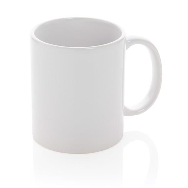 Taza básica de cerámica - Blanco / Blanco