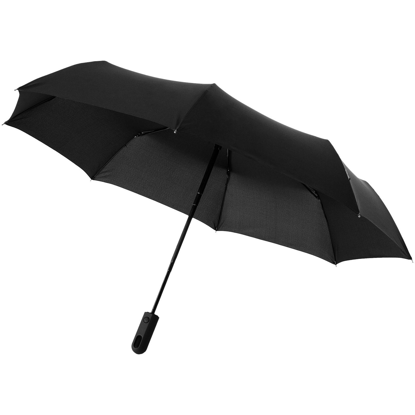 """21,5"""" skládací deštník Traveller s automatickým rozevíráním/skládáním - Černá"""
