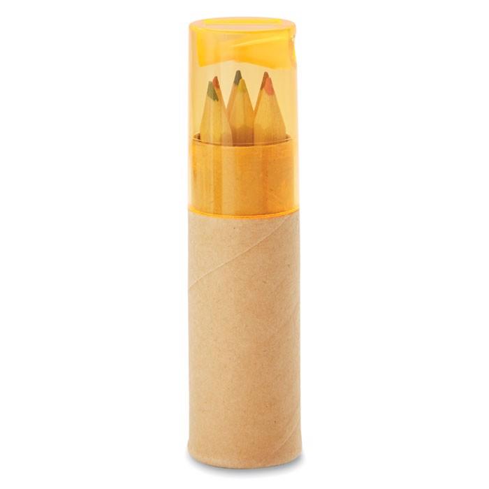 6 creioane în tub Petit Lambut - transparent orange