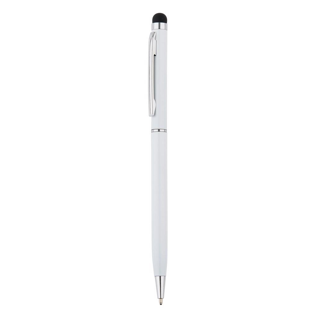 Tenké kovové stylusové pero - Bílá