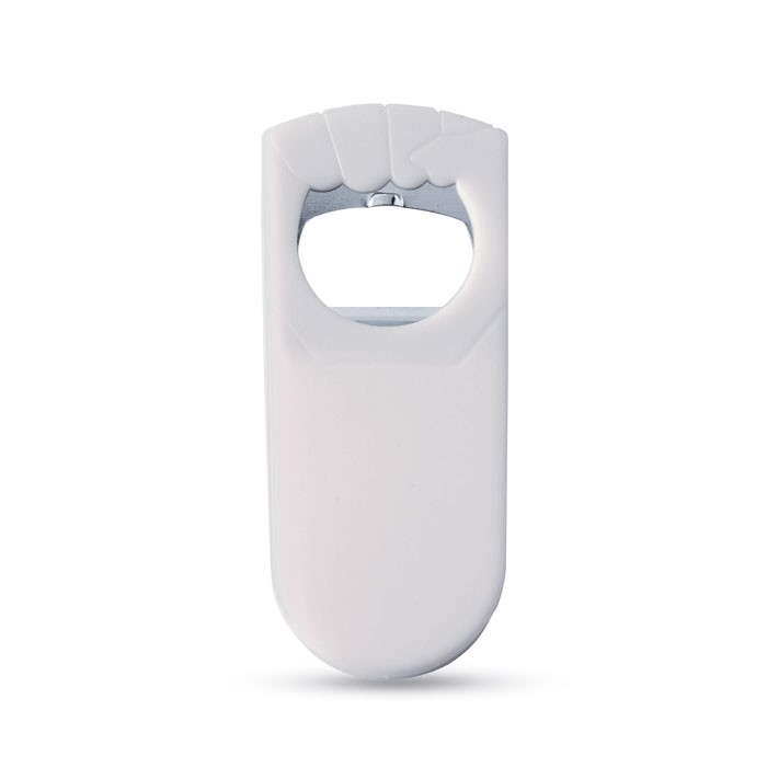 Otvírák na lahve a zátka Blabby - white