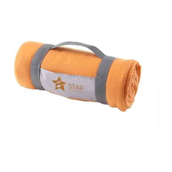 SuperSoft (180 g/m²) fleece blanket - Orange