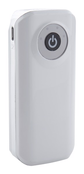 Usb Power Banka Harubax - Bílá / Stříbrná