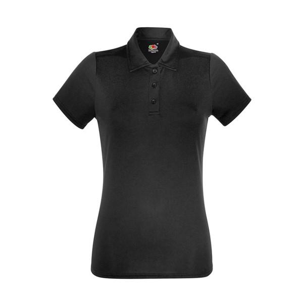 Damska Koszulka polo sportow Lady-Fit Polo 63-040-0 - Czarny / Czarny opal / M