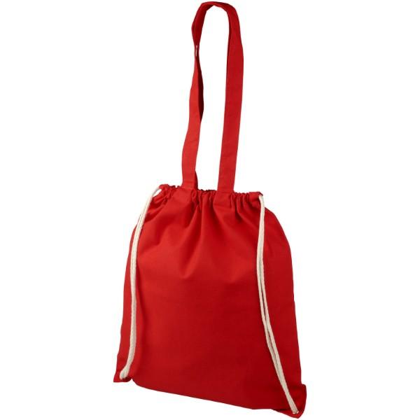 Elizo 240 g/m² bavlněný batoh se stahovací šňůrkou - Červená s efektem námrazy