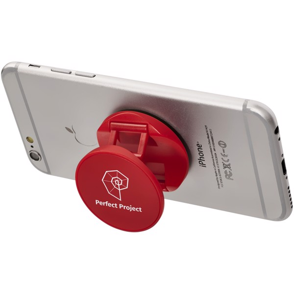 Brace phone stand with grip - Red