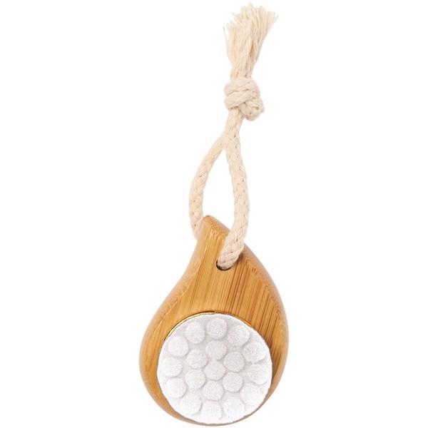 Bambusový kartáč na obličej Plato - Bílá