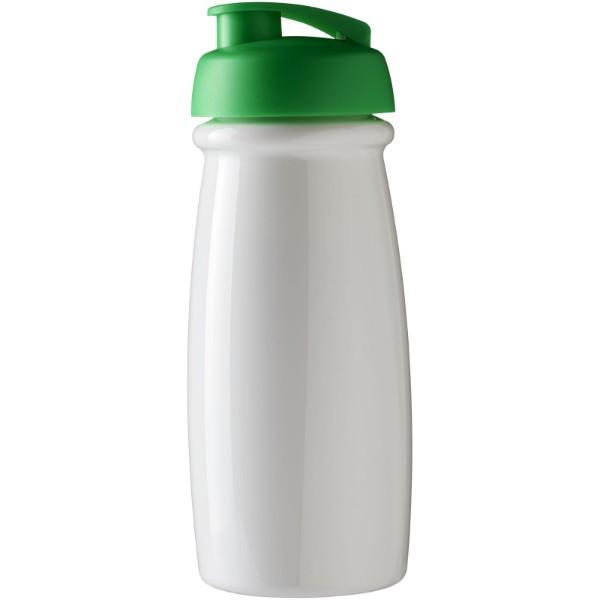 Sportovní láhev s vyklápěcím víčkem H2O Pulse® 600 ml - Bílá / Zelená